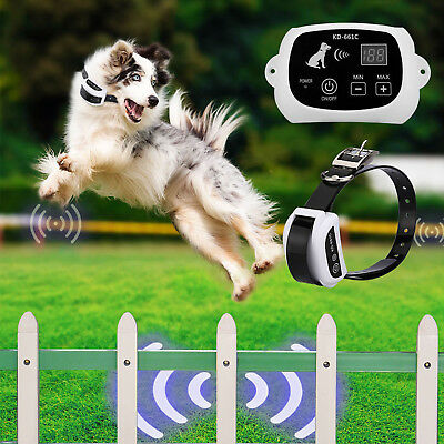 Wireless Fence For Dog Pet Containment System Fencing Waterproof Collar AU