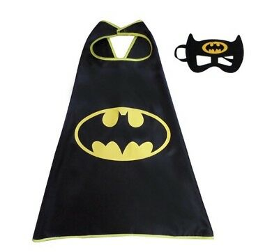 BATMAN Cape & Mask. Superhero Costume Party Set.