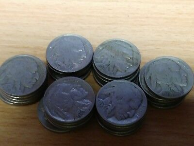30 Coin Lot-Indian Head/buffalo Nickels- All Full Dates