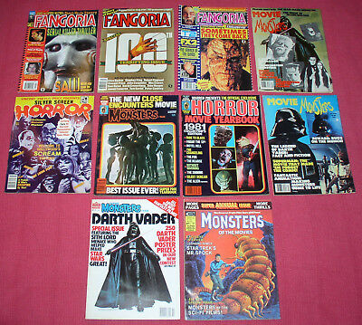 Lot Of Vintage Sci-Fi Magazines Dated1975-1991, Monsters Of The Movies/famous Mo