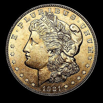 1921 D ~**ABOUT UNCIRCULATED AU**~ Silver Morgan Dollar Rare US Old Coin! #R26
