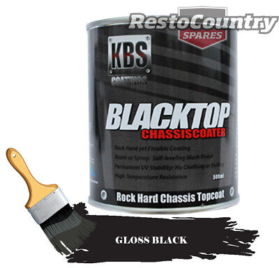 KBS Chassis Coater BlackTop 500mls GLOSS BLACK Car Truck paint rust