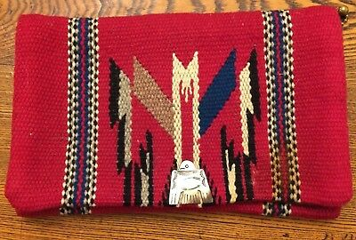 Vintage 1940's Original CHIMAYO PURSE Hand woven tailored blanket Ganscraft