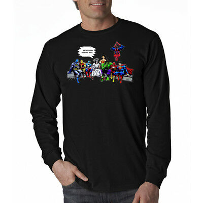 And That's How I Saved The World Jesus Superheros Long Sleeve T-Shirt B NEW