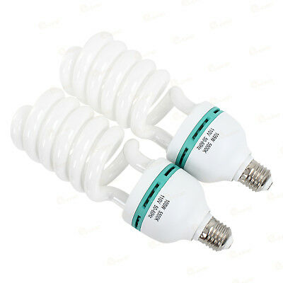 2x 105W 5500K E27 Photography Photo Studio Fluorescent Bulb Daylight CFL Light