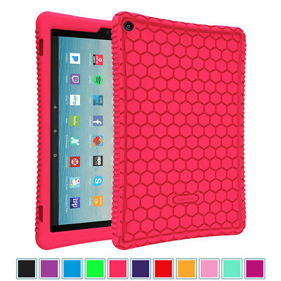 """For Amazon Fire HD 10 10.1"""" 7th Generation 2017 Tablet Silicone Case Back Cover"""