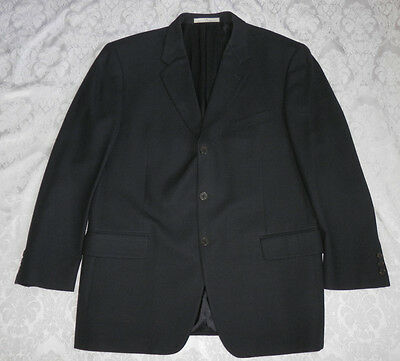 Joseph Abboud Men's Black Jacket Blazer 100% Wool Size 42R