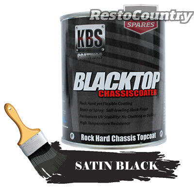 KBS Chassis Coater BlackTop One 1 Litre SATIN BLACK Car Truck paint rust