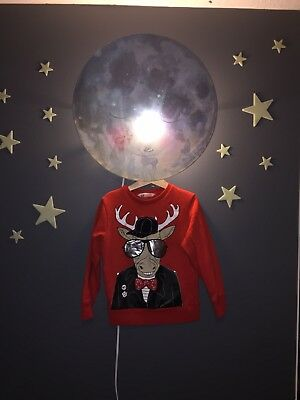 Kids goofy Christmas Sweater age 6-8 H&M party reindeer