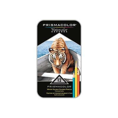 Premier Prismacolour Water soluble coloured Pencils - 12 pack
