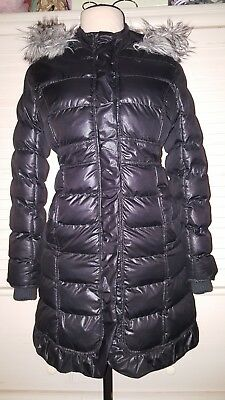 Justice Love Yourself warm black  winter jacket size Youth size 14,CUTE EUC!