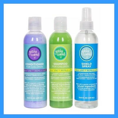 Head Lice Prevention Pack Includes Shampoo Conditioner Shield Spray All Natural