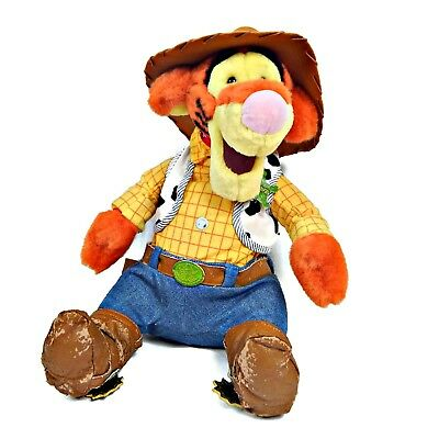 DISNEY STORE Winnie the Pooh's Tigger Plush as Woody Toy Story Doll 12""