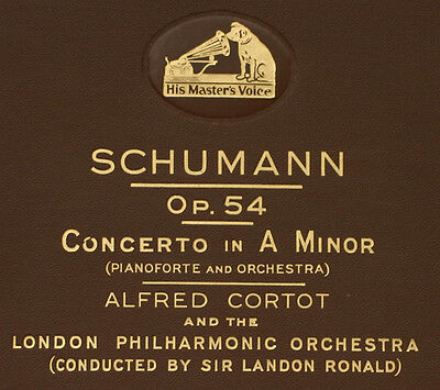 CORTOT- PIANO- & LONDON PHIL. Schumann: Concerto in A-moll Op. 54; 4x 78rpm  A94