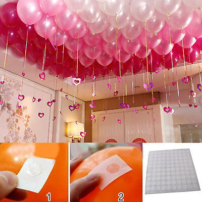 300pcs points Balloon Attachment Glue Dot Ceiling Party Home Decor Wall Stickers