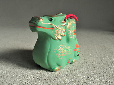 Japanese Clay Bell Dorei : Green dragon
