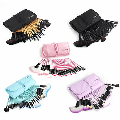 Wholesale 32Pcs Pro Eyebrow Shadow Foudation Makeup Brushes Set Kit + Pouch Bag