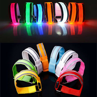 LED Reflective Light Arm Armband Strap Safety Belt For Night Running Cycling New