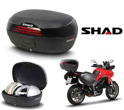 Top-case SHAD SH46 2017 valise moto scooter bagage topcase coffre 46 litres NEUF