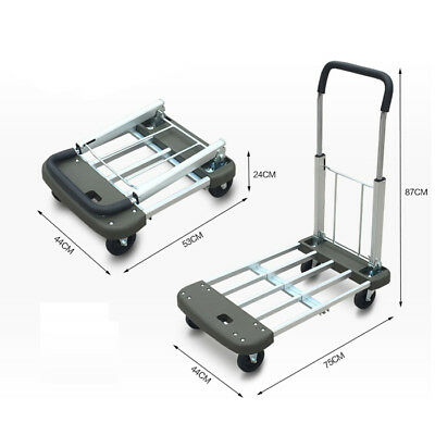 E28 Rugged Aluminium Luggage Trolley Hand Truck Folding Foldable Shopping Cart