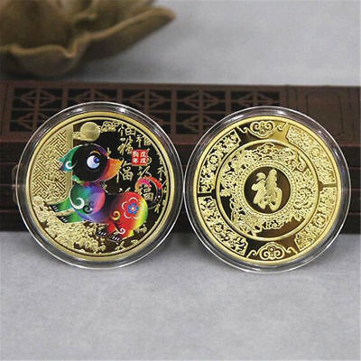 New 2018 Year Of The Dog commemorative Coins for Collection Gold/Silver 4cm