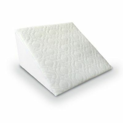Wedge Pillow - Back Support Aid Reliever - Reclining Quilted Orthopedic Foam Bed