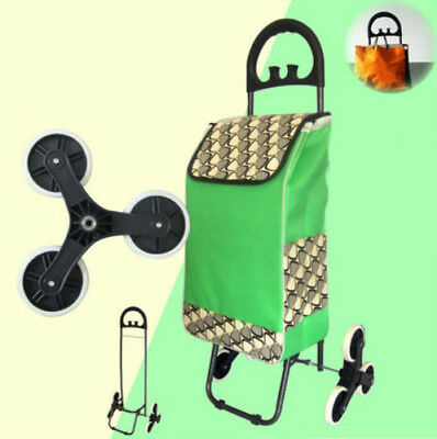 E190 Rugged Aluminium Luggage Trolley Hand Truck Folding Foldable Shopping Cart