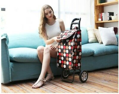 E162 Rugged Aluminium Luggage Trolley Hand Truck Folding Foldable Shopping Cart