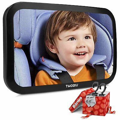 Baby Car Mirror, Rear View Baby Car Seat Mirror Fully Assembled & Adjustable New
