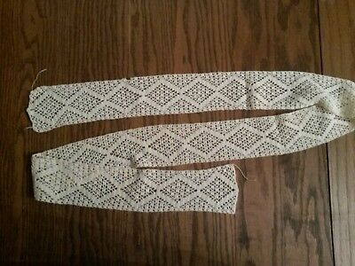 "50"" Vintage Handmade Cotton Lace Diamond Pattern"