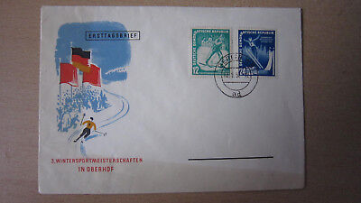 DDR 298-299 FDC Oberhof Wintersport