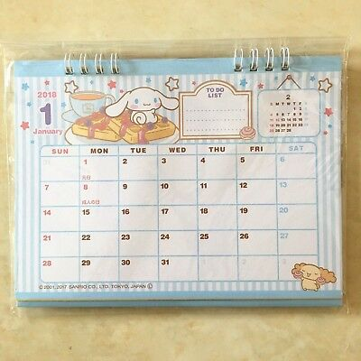 💖 SANRIO Cinnamoroll 2018 Desk Top Calendar From Japan Kawaii F/S💖