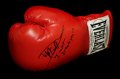 "* New* Dolph Lundgren ""Rocky 4"" Signed Boxing Glove : I Must Break You"