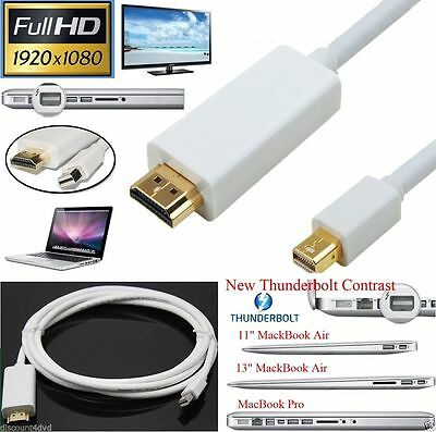 2M Thunderbolt Mini DisplayPort to HDMI TV Cable Adapter for MacBook Pro iMac