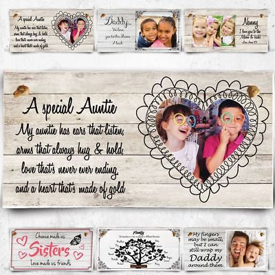 Personalised Plaque For A Special Auntie with photo - 70+ designs to choose !