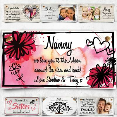 Personalised wooden plaque Christmas Gift For Nan Nanny Family Xmas Present !