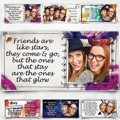 Personalised Photo Plaque For Best Friend Are Like Stars Christmas Gift BFF  !