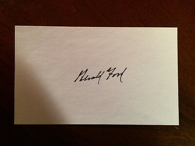 President Gerald Ford signed index card PSA Guarantee - Free Shipping