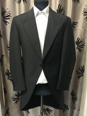 Charcoal/Grey Mohair Tailcoat
