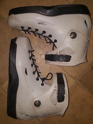USD sway team inline skates white aggressive roller blade shell only