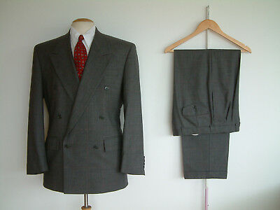 "1940's STYLE SUIT..GOODWOOD..TWIN PLEATS..PTU's..HIGH WAISTED..38"" x 32""..DEMOB"