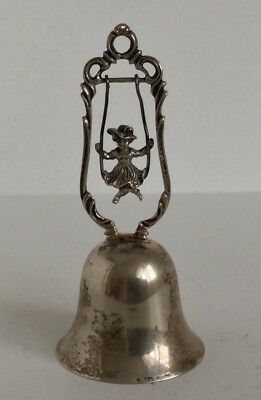 Antique Sterling Silver Bell Figural