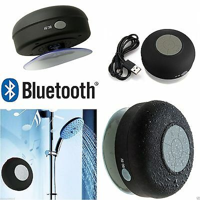Waterproof Speaker Wireless Bluetooth Phone call TF Suction Car/ BATHROOM Shower