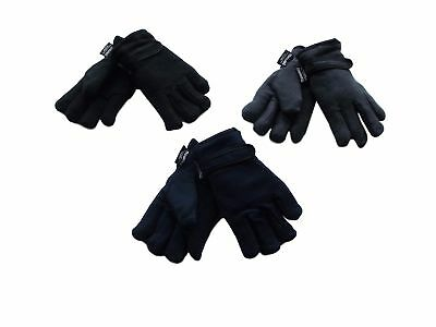 2 Pairs BOYS GLOVES- BOYS FLEECE THINSULATE LINED GLOVES Age 4-8 Years Or 9-12