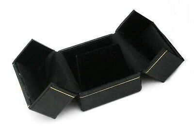 Lot of 6 Black Double Door Earring Jewelry Display Packaging Gift Boxes