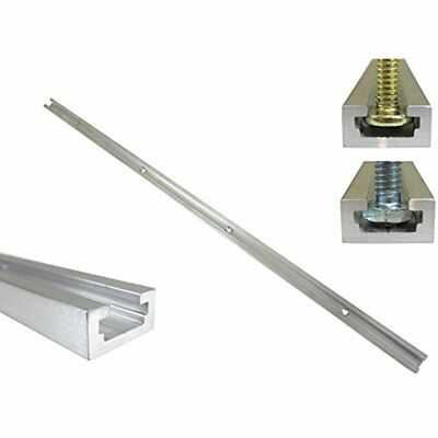 "48"" Aluminum T Track 3/4"" By 3/8"" Slot, Accepts 1/4"" Hex Bolts, Or 5/16"" Holes"