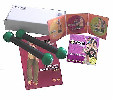 ZUMBA Fitness Toning Home Exercise Set with Toning Bars, All DVD's & Manual