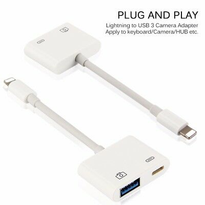 iOS 11 OTG Lightning USB 3.0 Camera Adapter  Connect iPhone to Digital Camera