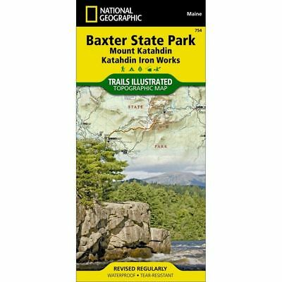 National Geographic Maine Baxter State Park Trails Illustrated Map 754