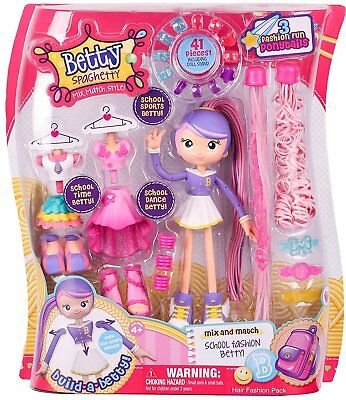 Betty Spaghetty Mix, Match, Style School Deluxe Fashion Betty With 41 Pieces